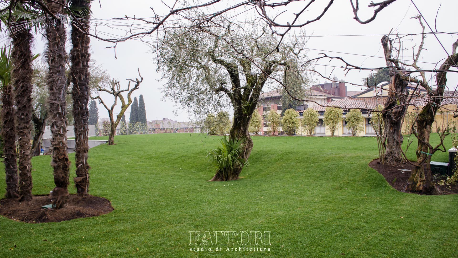 Studio di Architettura Fattori Fausto - Hotel Olivi Sirmione - progetto copertura parcheggio con solaio post teso 103