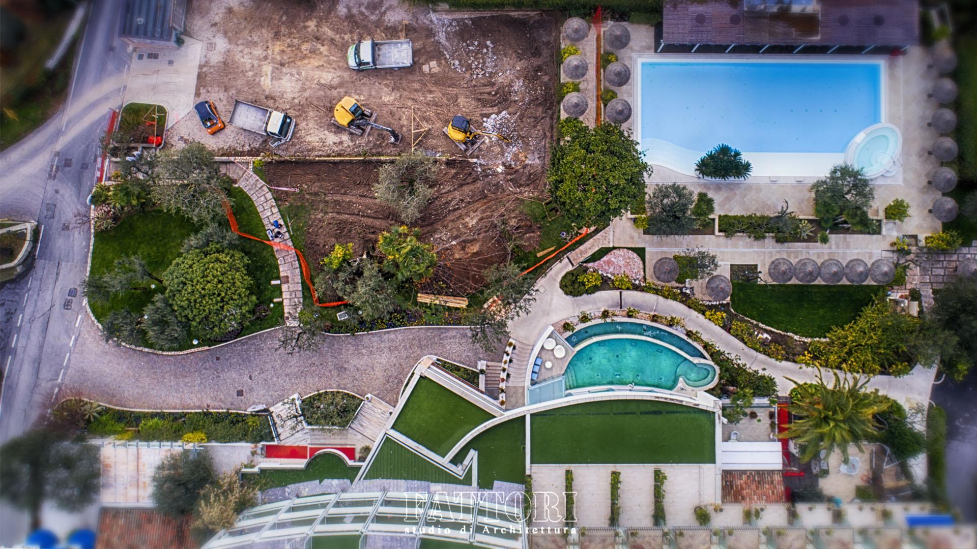 Studio di Architettura Fattori Fausto - Hotel Olivi Sirmione - progetto copertura parcheggio con solaio post teso 108