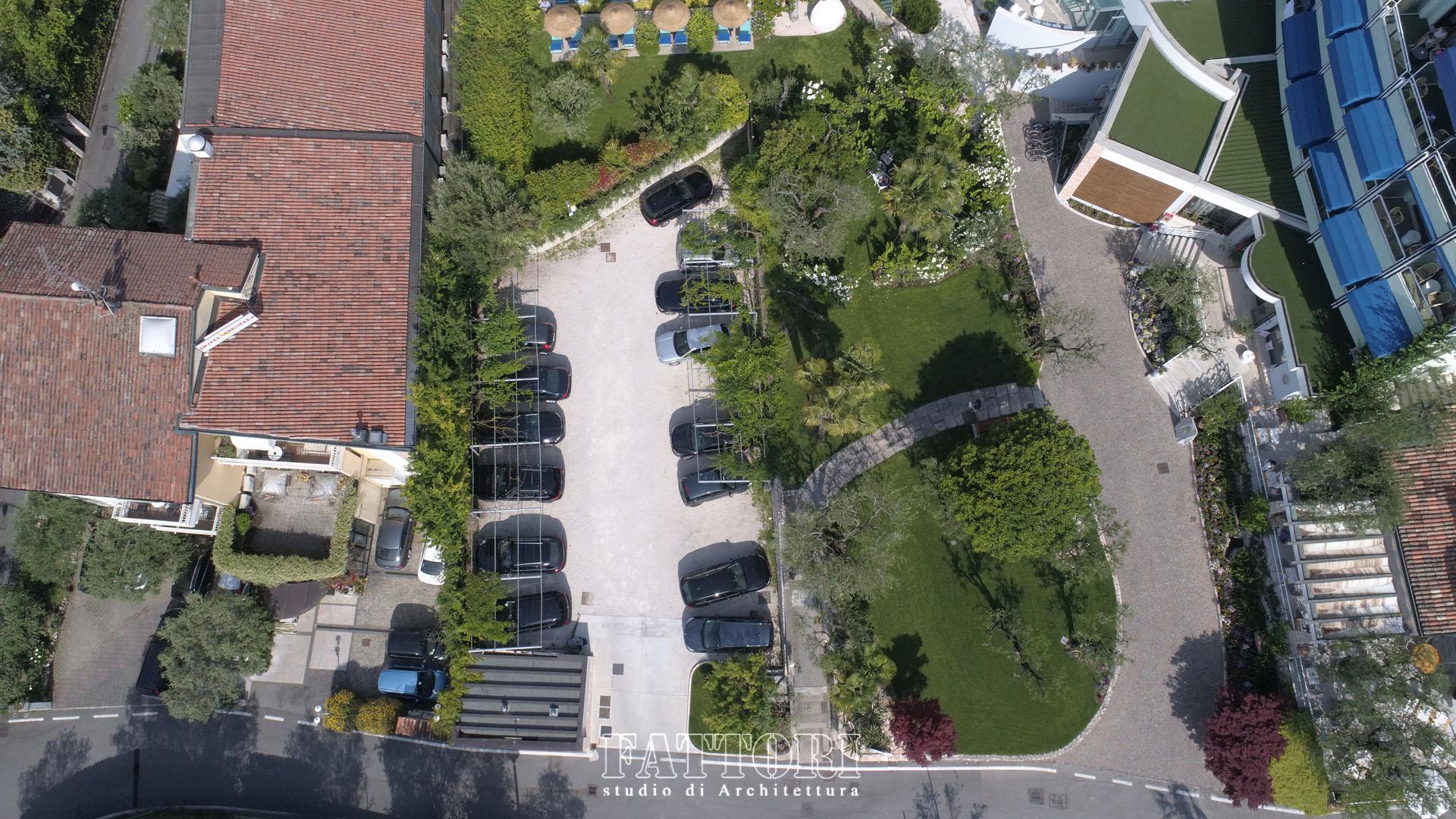 Studio di Architettura Fattori Fausto - Hotel Serenella Sirmione - proposta copertura parcheggio e SPA_prima1