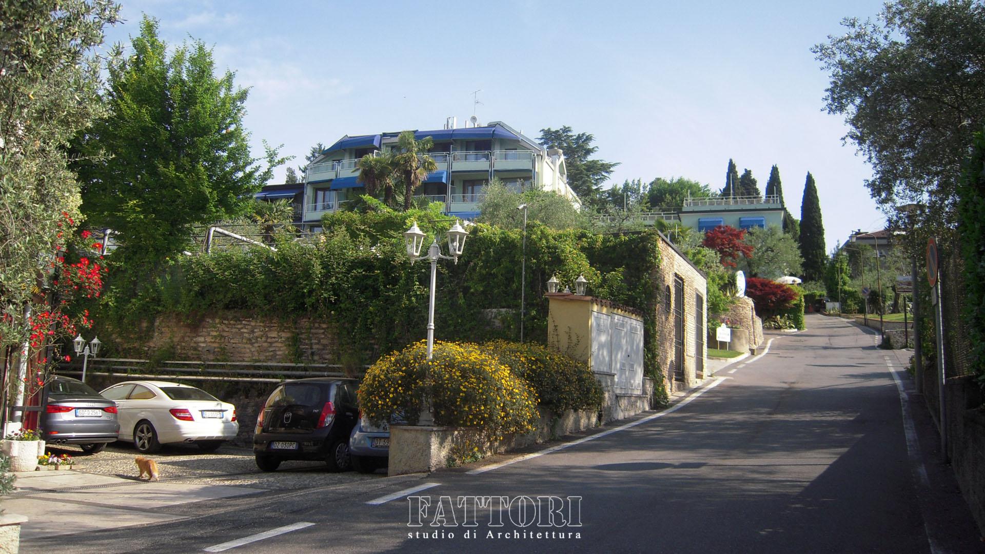 Studio di Architettura Fattori Fausto - Hotel Serenella Sirmione - proposta copertura parcheggio e SPA_prima2