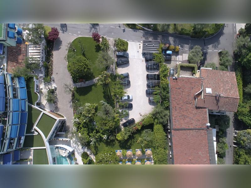 Studio di Architettura Fattori Fausto - Hotel Olivi Sirmione - progetto copertura parcheggio con solaio post teso - prima 3