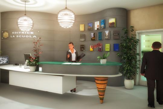 Studio di Architettura Fattori Fausto_Editrice la Scuola Brescia - progetto nuova sede_