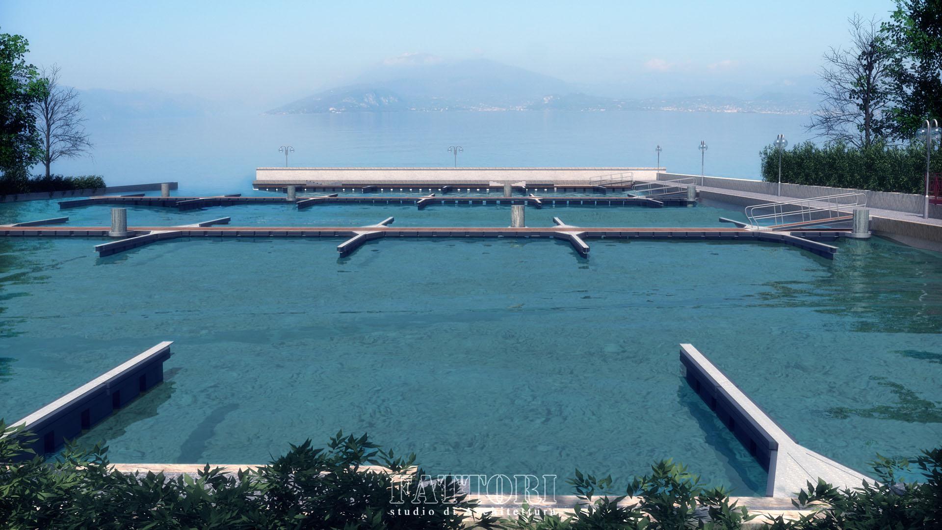 Studio di Architettura Fattori Fausto - Porto Riel - progetto porto privato sirmione lago di garda