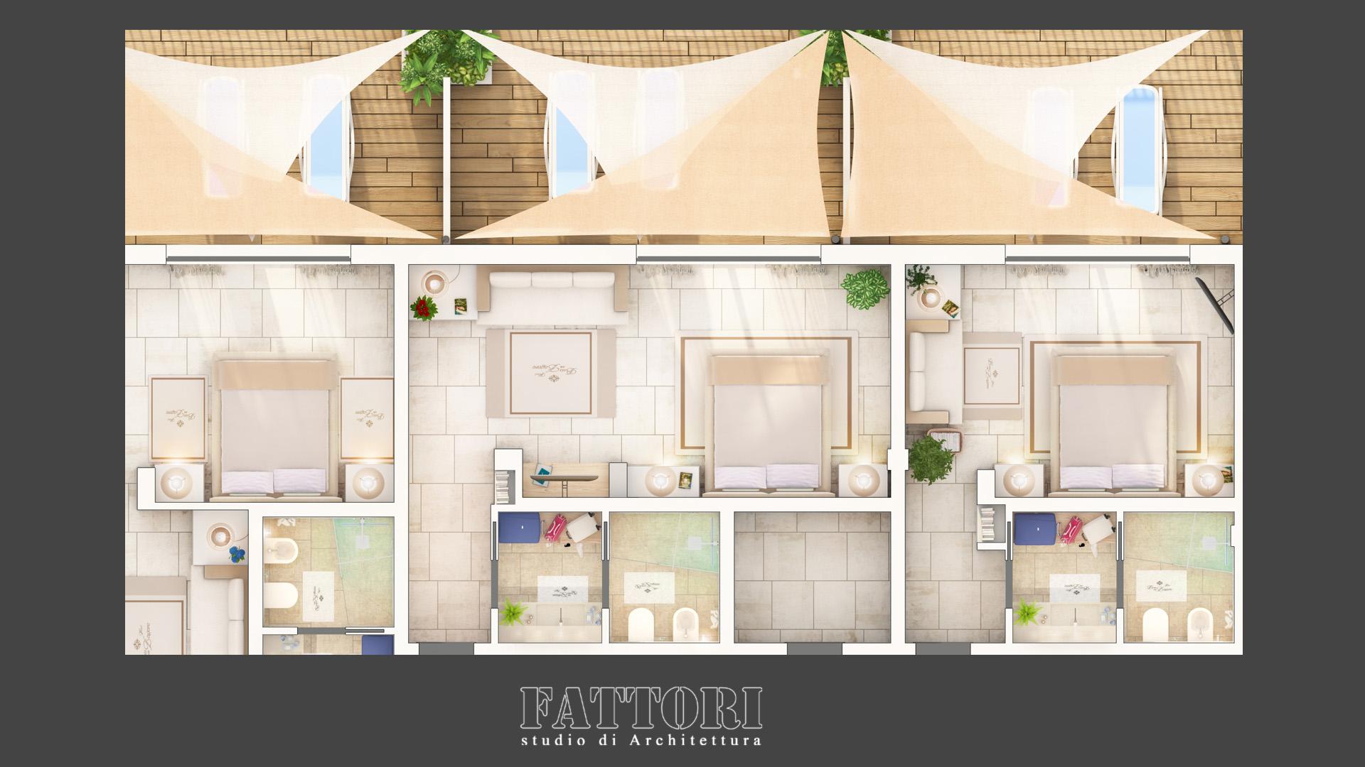 Studio di Architettura Fattori Fausto - Hotel Baia delle Zagare - Mattinata - Proposta progetto riorganizzazione interna camere_2